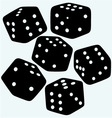 Set dices vector image