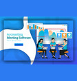 accounting meeting software has many professional vector image vector image