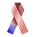 American Flag Ribbon vector image