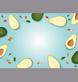 avocado colorful and almond pattern on a pastel vector image