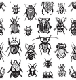 Beeetles and bugs design for paper or textile Ink vector image