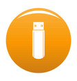big flash drive icon orange vector image vector image