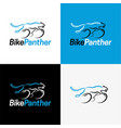bike panther logo and icon vector image
