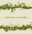 Border of creeper flower vector image vector image
