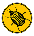 Bug button vector image vector image