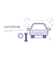 car service mechanic repair concept template web vector image vector image