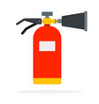 carbon dioxide fire extinguisher vector image vector image
