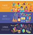 Carnival Flat Banners vector image vector image