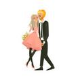 cartoon couple in love hugging vector image