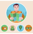 character in flat style vector image