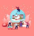 christmas holidays celebration concept tiny vector image vector image