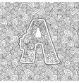 coloring book ornamental alphabet letter a font vector image vector image