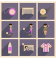 Concept of flat icons with long shadow football vector image vector image