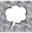 Creative message bubble design vector image vector image
