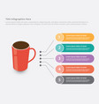 cup or red glass of black coffee infographic vector image vector image