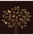 cute birds on a tree vector image