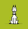 cute doberman dog sketch for your design vector image