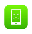 dead phone icon digital green vector image vector image