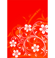 decorative flower frame vector image vector image
