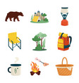 design picnic and nature icon vector image vector image