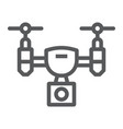 drone line icon electronic and device quadcopter vector image