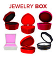 elegance collection of jewelry box set vector image
