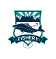Fishery isolated badge icon or emblem vector image vector image