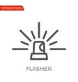 flasher icon vector image vector image