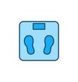 floor scales concept blue creative icon vector image