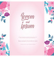 flowers wedding save date calligraphy floral vector image