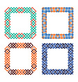 frames set abstract squares vector image vector image