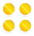 gold seals set vector image