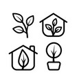 greenhouse icon set vector image