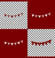 holiday flags garlands sign bordo and vector image vector image