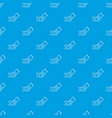 ice hockey ticket pattern seamless blue vector image