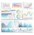 infographics and charts with curves data analysis vector image vector image