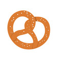 isolated bakery pretzel vector image