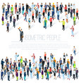 isometric people crowd vector image vector image