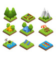 isometric traveling camping collection vector image vector image