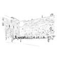 israel jerusalem wall tears vector image vector image