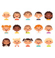 kids faces child expression faces little boys and vector image