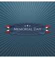 Memorial Day festive Banner and Ribbon vector image vector image