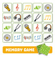 memory game for children cards with musical vector image vector image