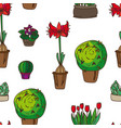 pattern of indoor plants vector image vector image