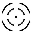 point radar icon simple style vector image vector image