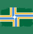 portland city flag vector image vector image