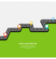 road background winding road with pin pointer vector image