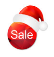 sale poster with santa claus cap vector image vector image