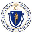 seal of massachusetts vector image vector image