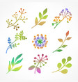 set of color branch vector image